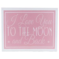 Pink Love You to the Moon Canvas Wall Art | Hobby Lobby | 576058