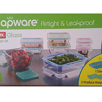 Snapware Airtight & Leakproof Pyrex Glass Food Keeper Set (19-Piece Set)