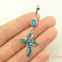 belly rings,glitter belly button jewelry,blue belly button rings,navel ring,piercing belly ring,body piercing bellyring