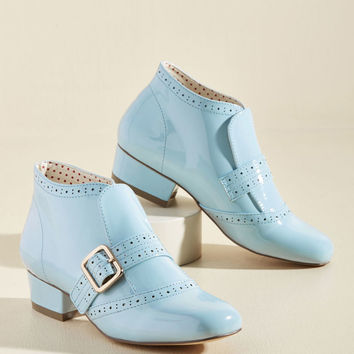 Showcase Your Strut Bootie in Sky Gloss
