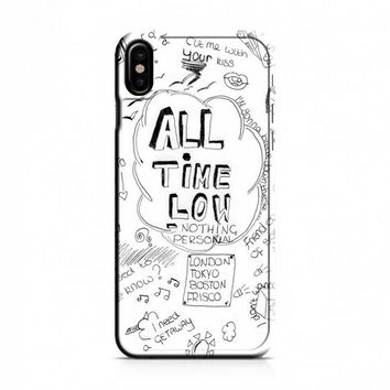 ALL TIME LOW DOODLE iPhone X Case