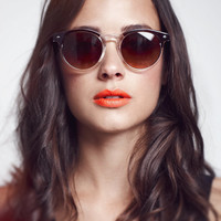 Round Clubmaster Sunglasses - The Drifter
