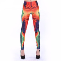 Psychedelic Rainbow Print Leggings