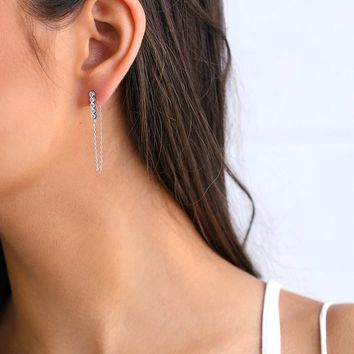 Let Me Be Your Star Sterling Silver Rhinestone Earrings