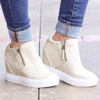 {Cream} Not Rated: Timmibelle Hidden Wedge Sneaker