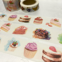 pretty cake homemade cake washi tape 10M x 3cm cake dessert party invitation sticker tape blueberry cake decor party planner cake planner