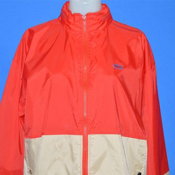 80s Izod Lacoste Red Windbreaker Jacket Womens Large