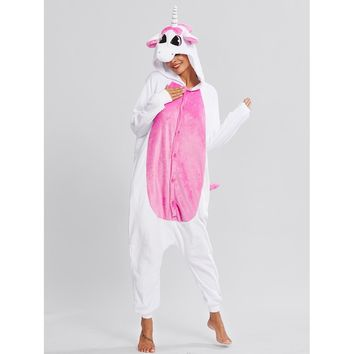 Drop Crotch Unicorn Onesuit WHITE