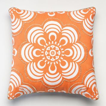 Happy Chic by Jonathan Adler Holly Floral Throw Pillow (Orange)