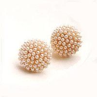 Fashion Simple Round Anti-allergy Shellfish Earrings