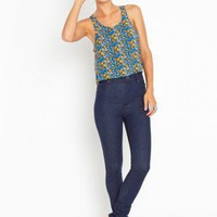 Second Skin Jeans - Dark Wash - NASTY GAL