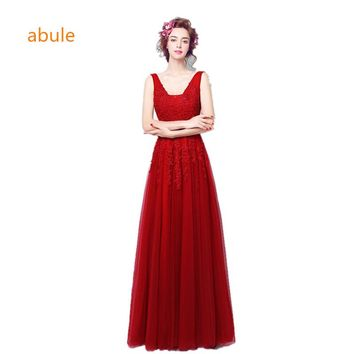 abule 2017 V-neckline fishtail red lace wedding dress Band New mermaid wedding gown Lace Bra Custom size vestido de noiva
