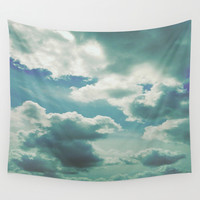 clouds sea Wall Tapestry by Munich