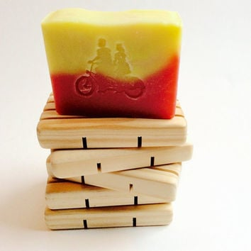 Best Bar Soap CRANBERRY POMEGRANATE ORANGE/5 oz. Luxe Designer Bar Soap/Genevieve & Theodore Logo/Soapie Shoppe Haywood Mall