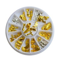 1 x NEW Charming 3d Alloy Nail Art Decorations Feather/Arrow Designs Studs Jewelry on Nails Manicure Glitters Supplies LANC167