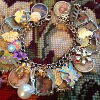 Disney's Tinkerbell Colorful Altered Art Charm Bracelet