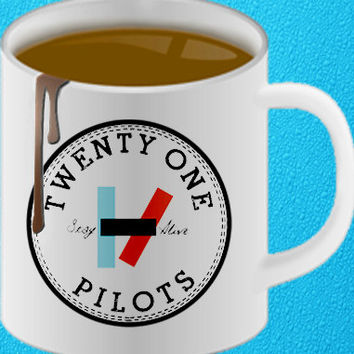 twenty one pilots, 21 pilots band mug, Coffee Mug, Tea Mug, Mug for Gift,mug coffee, mug tea, size 8,2 x 9,5 cmheppy coffee.