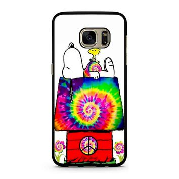 Snoopy And Woodstock Tie Dye Samsung Galaxy S7 Case