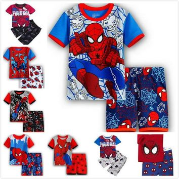 Hot Summer Kids Pajamas Baby Boys Gilrs Clothing 2017 top quality Costume Short Sleeve Pijamas children Sleepwear Sets