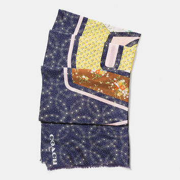Space Patchwork Oblong Scarf