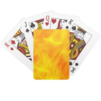 Fire and flames playing cards