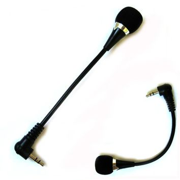 2017 New Mini 3.5mm Jack Flexible Microphone Speaker Mic For PC  HP Laptop Notebook Skype Yahoo
