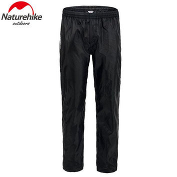 NatureHike Men Women Foldable Rain Pants Ski Pant Raincoat Waterproof Rainproof Trousers Climbing Hiking Trekking Pants