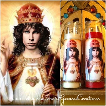 Saint Jim Morrison Prayer Candle, The Lizard King