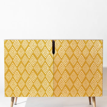 Heather Dutton Diamond In The Rough Gold Credenza