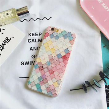 Cute On Sale Iphone 6/6s Stylish Hot Deal Plaid Phone Case [11193077396]