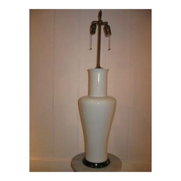 Tall White Porcelain Lamp