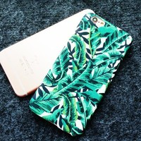 Green Leaves Cute Case for iPhone-170928