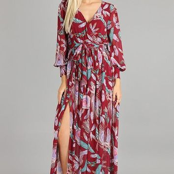 Bed of Roses Floral Maxi Dress