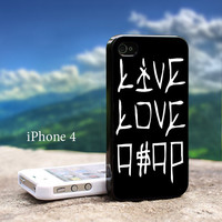 Live Love Asap Rocky a$ap Drake Swag Wayne For iPhone 4 / 4s Black Case