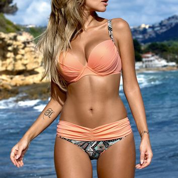 :Bikini: Swimsuit Triangle Womens Camouflage Flower Swimwear