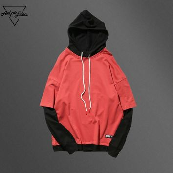 ca qiyif Hooded Sweatshirts Male Fashion Casual Long Sleeve Pullover