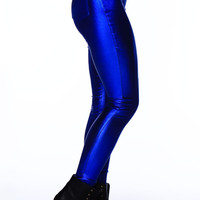 Electrify Me Metallic Blue Pant