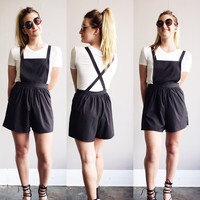 An Overall Romper in Black
