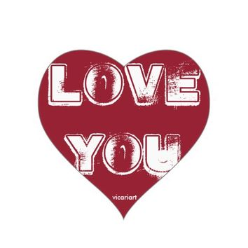 Love You Heart Sticker