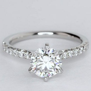 1.26ct Round Diamond Engagement Ring JEWELFORME BLUE GIA certificate