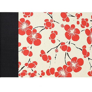 Guestbook Classic Red Flower
