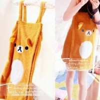 Rilakkuma Relax Bear Soft Suspenders Bath Robe Shawl Bath Skirt 1pcs