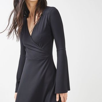 Trumpet Sleeve Wrap Dress | Topshop