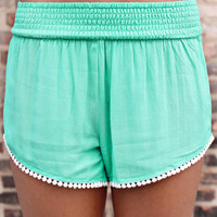 Dippin' Dots Shorts - Mint