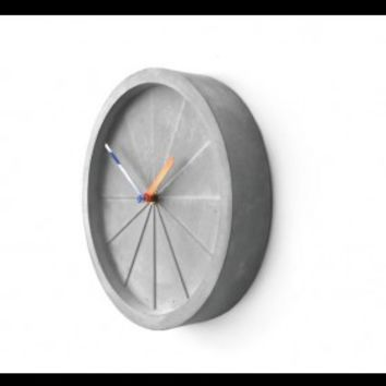 Circular Shape Concrete Wall Clock