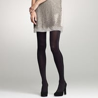 J.Crew Womens Sparkle Stripe-Side Tights