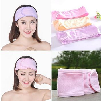 New Pink Spa Bath Shower Make Up Wash Face Cosmetic Headband Hair Band Accessories