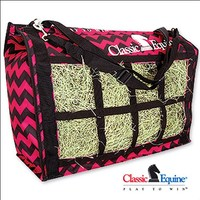 Top Load Hay Bag- Pink Chevron