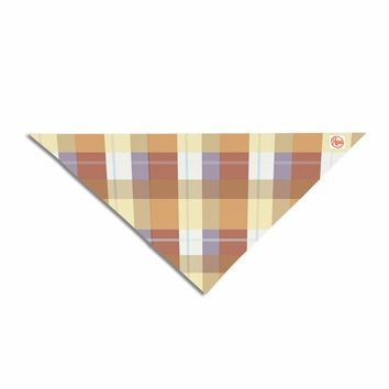 "afe images ""Brown Plaid Pattern"" Brown Tan Illustration Pet Bandana"
