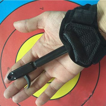 Newest Hand Bow kit trigger release for compound bow Release Caliper Shooting Trigger with Buckle Wrist Strap